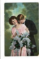 CPA - Carte Postale Pays Bas- Couple -jeune Femme Tenant Des Lilas-1919 VM3930 - Koppels