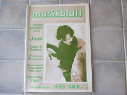 Musikblatt 1989 Jams Cajun & Zydeco Ect - Musique