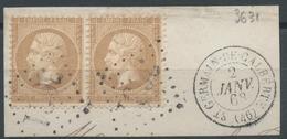 Lot N°50076  Paire N°21/fragment, Oblit GC 3631 St-Germain-de-Calberte, Lozère (46), Ind 9 - 1862 Napoleone III