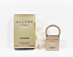 Miniatures De Parfum  CHANEL ALLURE HOMME EDITION BLANCHE EDT  Concentrée 2 Ml  + Boite - Modern Miniatures (from 1961)