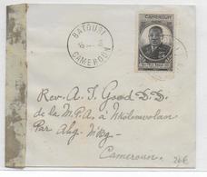 CAMEROUN - 1946 - ENVELOPPE FM Avec CENSURE De BATOUSI => NKOLEMVOLAN - RARE BUREAU - Cameroun (1915-1959)