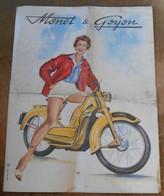 Plaquette Publicitaire Monet & Goyon - Motos