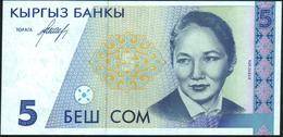 KYRGYZSTAN - 5 Som Nd.(1994) {Kyrgyz Banky} UNC P.8 - Kirguistán