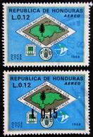 HONDURAS Mi 767, 779 . Forest Fire Brigade Emblem Surcharged - Honduras