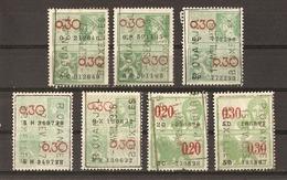 Belgique 1933/38 - R. OUENGEL - Bruxelles - Petit Lot De 7 Timbres Fiscaux - Timbres