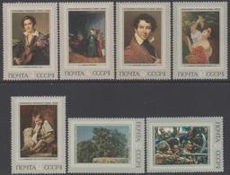 RUSSIE 1973 7 TP Histoire De La Peinture Russe N° 3928 à 3934 Y&T Neuf ** - Ungebraucht
