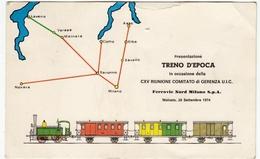 TRENI - FERROVIE NORD MILANO - PRESENTAZIONE TRENO D'EPOCA - MALNATE 28/09/1974 - Vedi Retro - Ferrovie