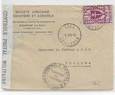 CAMEROUN - 1942 - FRANCE LIBRE - SERIE DE LONDRES Sur ENVELOPPE Avec CENSURE De DIZANGUE EDEA !! => EBOLOWA - Cameroun (1915-1959)