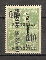 Belgique 1928 - DE VRIJE BURGER - 1 Timbre Fiscal - Stamps