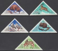 RUSSIE 1973 5 TP Faune De L'URSS N° 3945 à 3949 Y&T Neuf ** - Ungebraucht