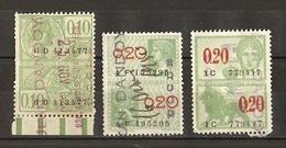 Belgique 1922/31 - JEAN DANDOY - Uccle - Petit Lot De 3 Timbres Fiscaux - Timbres
