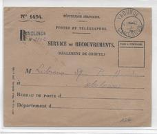 CAMEROUN - 1952 - ENVELOPPE En FRANCHISE RECOMMANDEE De YAOUNDE => EBOLOWA - Cameroun (1915-1959)