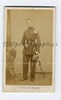 """CDV F. Deron Photographie, Bruxelles. Portrait D'un Militaire : Emile Chollet."""" Tenue 1851-1852"""" - Fotos"""