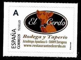 ESPAÑA. TUSELLO. RESTAURANTE EL CERDO. ZARAGOZA - 1931-Hoy: 2ª República - ... Juan Carlos I