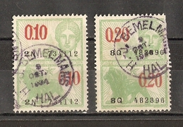 Belgique 1931 - H. J. BEMELMANS - HAL - Petit Lot De 2 Timbres Fiscaux - Fiscali