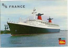 76 LE HAVRE Paquebot S/S FRANCE De La Compagnie Générale Transatlantique - Steamers