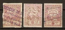 Belgique 19?? - Petit Lot De 3 Timbres Fiscaux - 20 C - Quittances - Kwijtbrieven - 1 ND Schaerbeek - Revenue Stamps