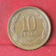 CHILE 10 PESOS 1987 -    KM# 218,1 - (Nº29416) - Chile