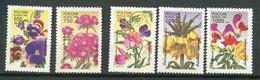 Russie ** N° 6165 à 6169 - Fleurs - Unused Stamps