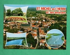 85 Vendée Saint Michel En L Herm Carte Multivues Aerienne - Saint Michel En L'Herm