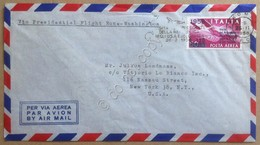 Storia Postale Italia 1956 - Posta Aerea L. 120 Su Busta Via Volo Presidenziale - Francobolli