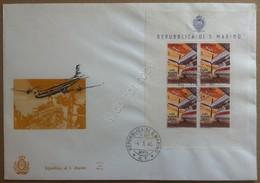 FDC ALA - San Marino 1965 - Foglietto Aerei Moderni Su Busta Grande Non Viagg. - Francobolli