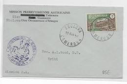 CAMEROUN - 1940 - SEUL Sur LETTRE De EBOLOWA Avec CENSURE => KRIBI Via LOLODORF (VOIR DOS) - Cameroun (1915-1959)