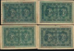 4 X 50 MARK  1914  2 SCANS - [ 2] 1871-1918 : Duitse Rijk