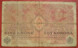 1 Krone 1.12.1916 (WPM 20) / Fälschung??? / Forgerie??? / Hungarian Printing??? - Austria