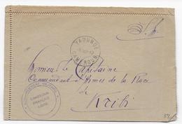 CAMEROUN - 1942 - LETTRE Du COMMANDEMENT MILITAIRE Du CAMEROUN FRANCAIS LIBRE à YAOUNDE => KRIBI - Marcophilie (Lettres)