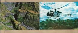Cirque De Mafate île De La Réunion Vue D'hélicoptère Réunion Air Service Aéroport De Gillot Saint-Denis 2scans - Saint Denis