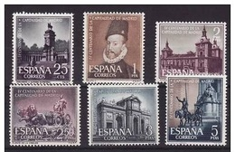 **1388/1393 CAPITALIDAD DE MADRID (1961) SERIE COMPLETA NUEVA SIN CHARNELA - OFERTA POR LIQUIDACION - 1931-Hoy: 2ª República - ... Juan Carlos I