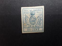 PARMA PARME 1857, Yvert No 11, 40 C Bleu  , Neuf (*) TB - Parma