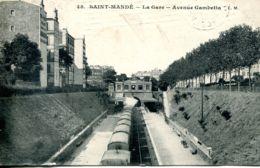 N°73474 -cpa Saint Mandé -la Gare- Avenue Gambetta- - Saint Mande