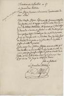 """Franchise Obernai An 5 - 29.8.1797 Le Commandant Militaire """"Pension"""" - 1701-1800: Précurseurs XVIII"""