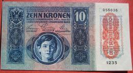 """10 Kronen 2.1.1915 (WPM 51) Overprint / Überdruck """"Deutschösterreich"""" (1919) Tiefdruck - Austria"""