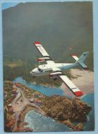 A105  Carte   TWIN OTTER -  AIR-ALPES Au-dessus De La Baie De Porto, Corse   LIGNES INTERIEURES CORSE Et SARDAIGNE ++++ - Aviation
