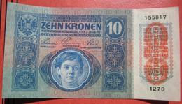 """10 Kronen 2.1.1915 (WPM 51) Overprint / Überdruck """"Deutschösterreich"""" (1919) Flachdruck - Austria"""