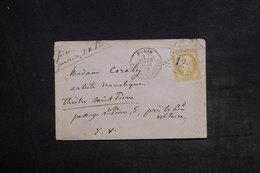 FRANCE - Enveloppe De Paris En Port Local En 1874 , Affranchissement Cérès , étoile 12 - L 33287 - Storia Postale