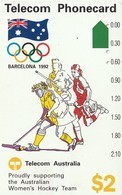 TARJETA TELEFONICA DE AUSTRALIA, BARCELONA 1992 - Women's Hockey (N91041-1). AUS-M-048. (098) - Olympische Spelen