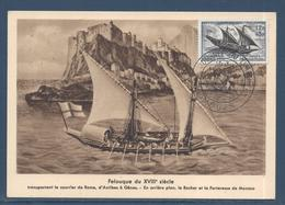 France Carte Maximum - Journée Du Timbre - Service Maritime Postale - 1957 - Maximumkarten