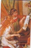 Télécarte JAPON * PEINTURE FRANCE * AUGUSTE RENOIR * PIANO * MUSEUM * ART * TK Gemälde (2063) Phonecard Japan * KUNST - Painting