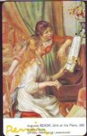 Télécarte JAPON * PEINTURE FRANCE * AUGUSTE RENOIR * PIANO * MUSEUM * ART * TK Gemälde (2064) Phonecard Japan * KUNST - Painting