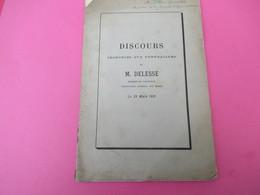 Géologie/Discours Prononcés Aux Funérailles D'Achille DELESSE/par Daubrée,Barral,Bertin,Risler,etc/1881      MDP85 - Libros, Revistas, Cómics