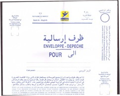 Maroc. Enveloppe-Dépêche.  Usage Interne. Envoi Inter-postes. Pliage En 4. - Briefmarken