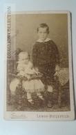 D164589 CDV  Cabinet Photo  - Otto Geiseler- Bielefeld-Lemgo   - Ca 1890-1900 - Children- Costume Fashion - Fotos