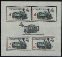 CSSR Tschechoslowakei Ceskoslovensco 1987 - Tenderlokomotive - MiNr Block 71 (2913) - Eisenbahnen