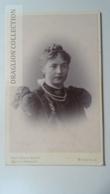 D164591 CDV Cabinet Photo -Fritz Küken Nachf.-Bielefeld - Ca 1890-1900 - Young Lady- Costume Fashion Coiffure - Fotos