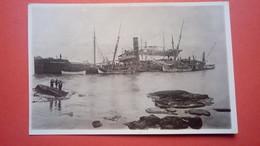 """Carte Photo épave Du Bateau Cargo Grec """"SS Georgios Paleocrassas"""" échoué à Gallipoli (Italie) Le 12 Décembre 1931 - Commerce"""