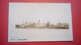 """Carte Photo Du Bateau Cargo """"TONGARIRO"""" - Commerce"""